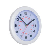 Image for 5 Star Controller Wall Clock with 24 Hour Dial 213mm Diameter White