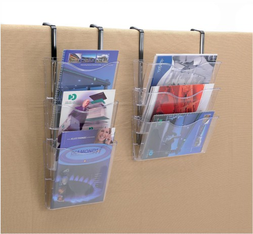Brochure Files Landscape 3 Pockets A4 Clear [Pack 3]
