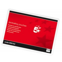 Image for 5 Star Laminating Pouches 250 Micron A7 for Insert 75x105mm Glossy [Pack 100]