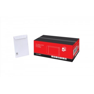 5 Star Envelopes Pocket Peel and Seal 100gsm White C5 Ref [Pack 500]