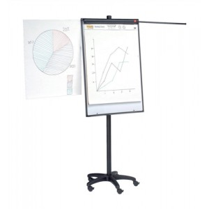 5 Star Mobile Executive Easel Magnetic Mobile on 5 Castors for Pads A1 and Euro Ref 8102471