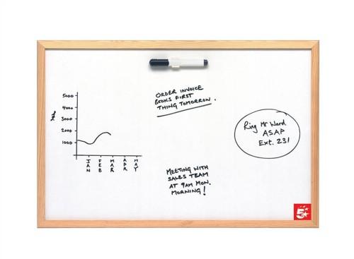 5 Star Economy Drywipe Board Lightweight W900xH600mm