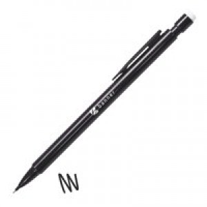5 Star Disposable Mechanical Pencil Retractable with 3 x 0.7mm Lead Assorted Barrels [Pack 10]