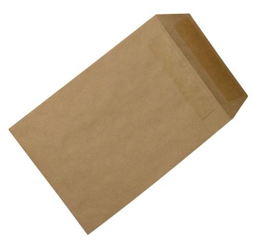 5 Star Envelopes Mediumweight Pocket Press Seal 90gsm Manilla 254x178mm [Pack 500]