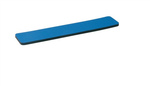 5 Star Wrist Rest with 6mm Rubber Sponge Backing Blue
