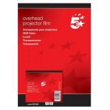 5 Star OHP Film Laser Colour Printer [Pack 50]