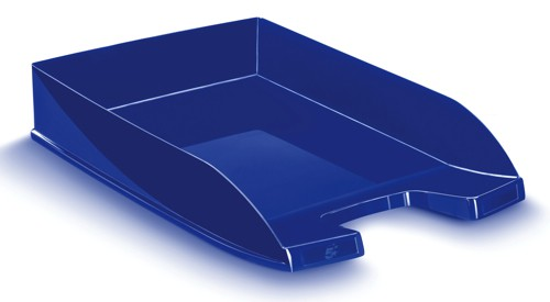 5 Star Letter Tray Self-stacking W260xD345xH64mm 400 Sheets Blue