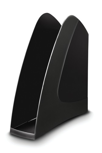 5 Star Magazine Rack File Low Sill A4 Plus and Portrait Foolscap Black