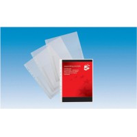 Image for 5 Star Expanding Punched Pocket PVC Top Flap 200 Micron A4 Clear [Pack 10]