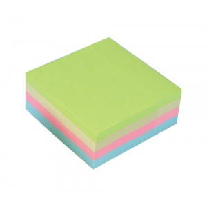 5 Star Re-Move Notes Cube Pad of 320 Sheets 76x76mm Pastel Rainbow