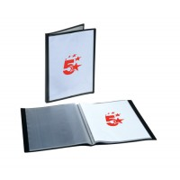 Image for 5 Star Display Book Rigid Cover Personalisable Polypropylene 20 Pockets A4 Black
