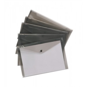 5 Star Envelope Wallet Polypropylene A4 Translucent Smoke [Pack 5]
