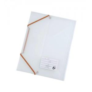 5 Star 3 Flap Elasticated File Polypropylene A4 Translucent [Pack 5]