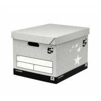Image for 5 Star Storage Box Self-Assembly W383xD330xH282mm Grey [Pack 10]