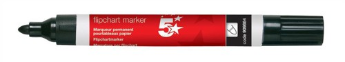 5 Star Flipchart Marker Pen Water-based Line Width 2.0mm Black [Pack 12]