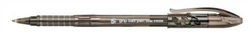5 Star Grip Ball Pen 1.0mm Tip 0.4mm Line Black [Pack 10]