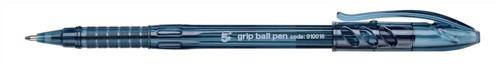 5 Star Grip Ball Pen 1.0mm Tip 0.4mm Line Blue [Pack 10]