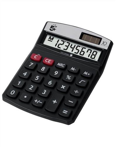 5 Star Calculator Desktop Battery/Solar-power 10 Digit 3 Key Memory Ref DT10D