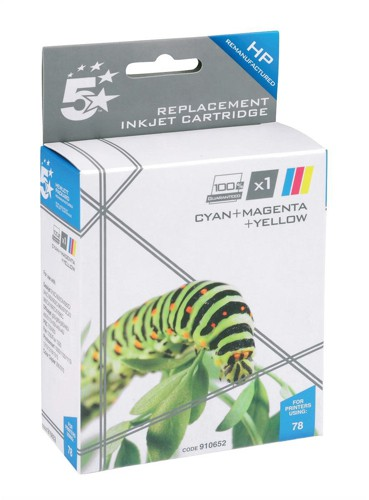 5 Star Compatible Inkjet Cartridge Page Life 970pp Colour [HP No. 78 C6578A Alternative]