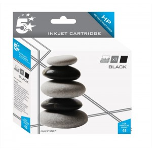 5 Star Compatible Inkjet Cartridge Page Life 830pp Black [HP No. 45 51645AE Alternative]