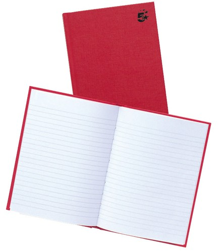 5 Star Manuscript Book Casebound 70gsm Ruled 192 Pages A5 [Pack 5]