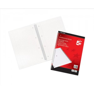 5 Star Notebook Wirebound 70gsm Ruled and Margin Perforated 100 Pages A4 [Pack 10]