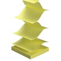 Image for 5 Star Re-Move Notes Concertina Pad of 100 Sheets 76x76mm Yellow [Pack 12]