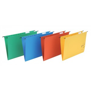 5 Star Suspension Files Manilla Wrapover Bar Tabs and Inserts Foolscap Green Ref 100331408 [Pack 50]
