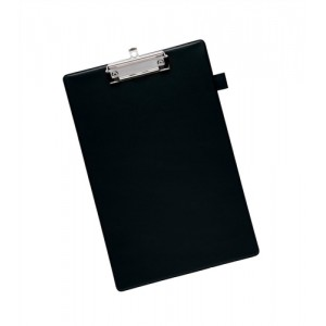 5 Star Standard Clipboard with PVC Cover Foolscap Black