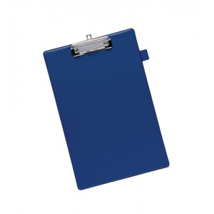 5 Star Standard Clipboard with PVC Cover Foolscap Blue