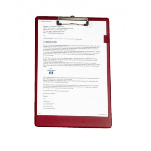 5 Star Standard Clipboard with PVC Cover Foolscap Dark Red