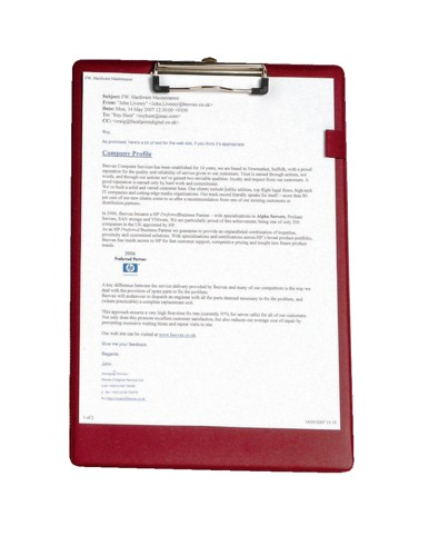 5 Star Standard Clipboard with PVC Cover Foolscap Red