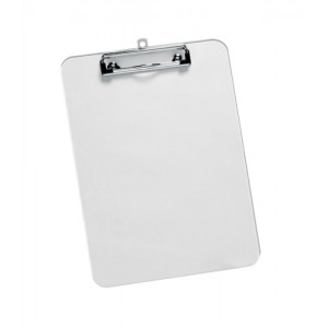 5 Star Clipboard Plastic Durable with Rounded Corners A4 Clear