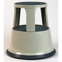 5 Star Step Stool Mobile Spring-loaded Castors up to 150kg Top D290xH430xBase D435mm 5kg Grey