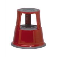 Image for 5 Star Step Stool Mobile Spring-loaded Castors up to 150kg Top D290xH430xBase D435mm 5kg Red