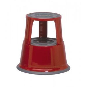 5 Star Step Stool Mobile Spring-loaded Castors up to 150kg Top D290xH430xBase D435mm 5kg Red