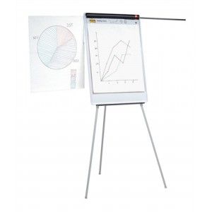 5 Star Easel Drywipe Magnetic with Pen Tray and Extension Arms Capacity A1 Grey Ref 8102472