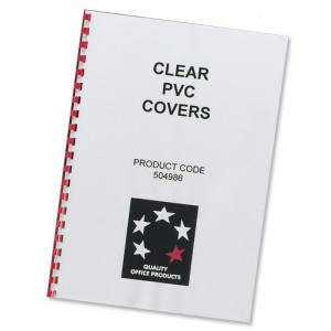 5 Star Comb Binding Covers PVC 150 micron A4 Clear [Pack 100]