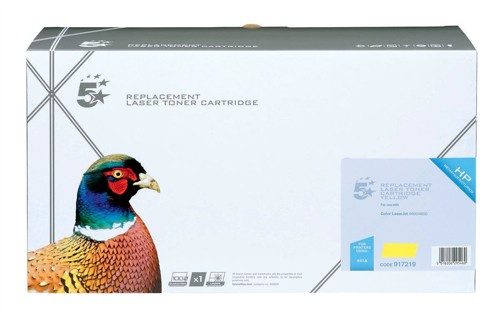 5 Star Compatible Laser Toner Cartridge Page Life 8000pp Yellow [HP No. 641A C9722A Alternative]