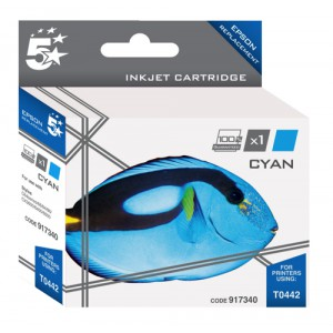 5 Star Compatible Inkjet Cartridge Page Life 400pp Cyan [Epson T044240 Alternative]