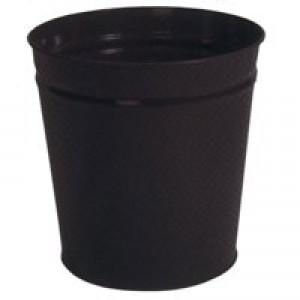 5 Star Waste Bin Round Metal Scratch Resistant D300xH280mm 15 Litres Black