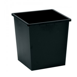 5 Star Waste Bin Square Metal Scratch Resistant W325xD325xH350mm 27 Litres Black