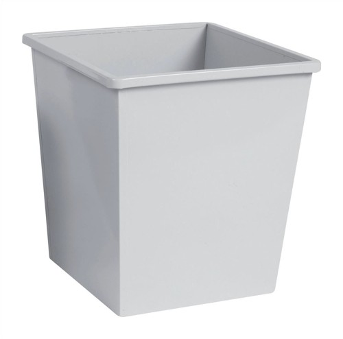 5 Star Waste Bin Square Metal Scratch Resistant W325xD325xH350mm 27 Litres Grey