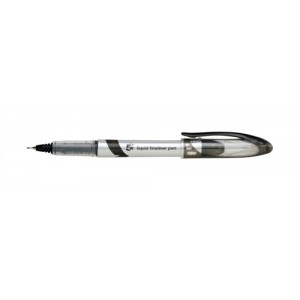 5 Star Liquid Fineliner Pen 0.4mm Line Black [Pack 12]