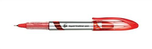 5 Star Liquid Fineliner Pen 0.4mm Line Red [Pack 12]