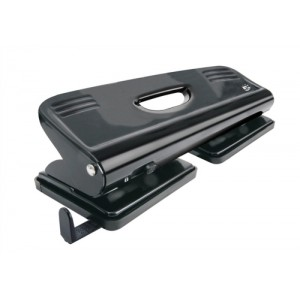 5 Star Punch 4-Hole Metal with Plastic Base Capacity 16x 80gsm Black