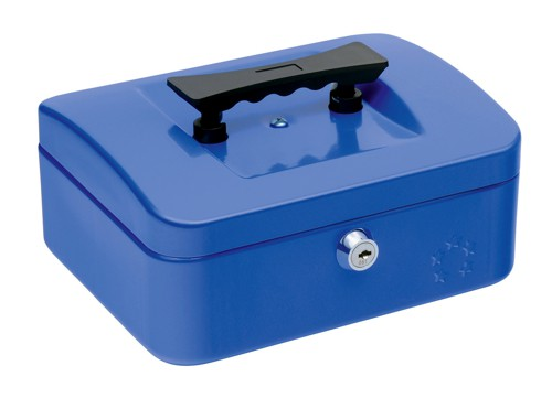 5 Star Cash Box 8 Inch W150xD200xH78mm Blue