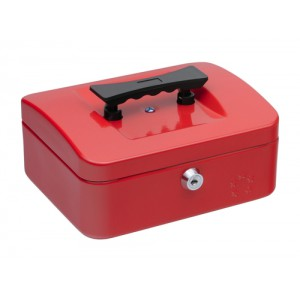 5 Star Cash Box 8 Inch W150xD200xH78mm Red