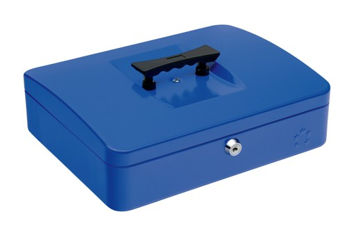 5 Star Cash Box 12 Inch W300xD240xH90mm Blue