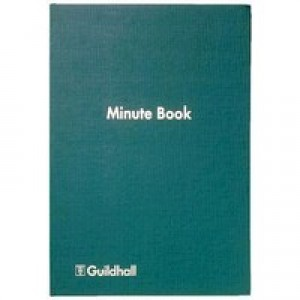 Guildhall Minute Book 160 Numbered Pages with A-Z index W298xH203mm Green Ref 32/MZ